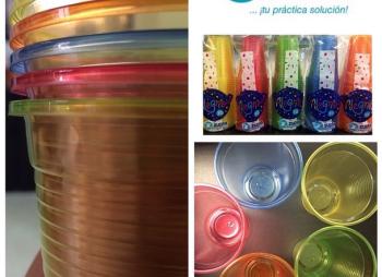Vasos desechables de colores alegría - zupla